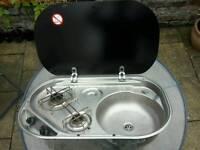 Smev 8322 Campervan Two Burner Hob and Sink Unit
