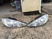 Peugeot 206 Facelift 2003 To 2006 Headlights