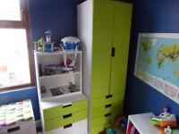 Ikea Stuva Childrens Wardrobe, Chest of Drawers & 2 Bookshelves