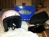 Pink Viper Motorcycle / Scooter Helmet Size XS Brand New Detachable visor bag & original box £20