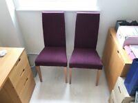 2 John Lewis Lydia dining chairs