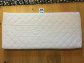 Bednest cot mattress and 2 fitted sheets