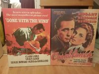 Casablanca / Gone With The Wind Old Film Poster Canvases