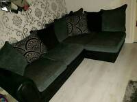 Corner sofa, footstool & sofa