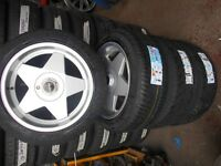 "18"" GENUINE BORBET A ALLOY WHEELS . TYRES - VOLKSWAGEN T5"