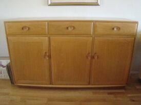 Ercol three drawer light elm high sideboard in excellent condition - REDUCED