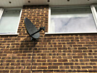 Sky dish, set top box and remote
