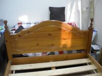 Double Pine Bed for Sale Very Solid Construction