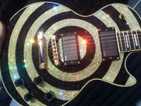 CRYSTALZROCK ZAKK WYLDE CUSTOM LES PAUL GUITAR -