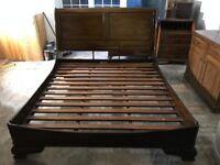Super king Mahogany Sleigh bed - £300