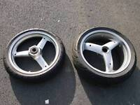 Front and Rear wheel for Triumph speed triple