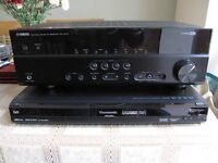 Yamaha RX-V373 Ampli-Tuner and Wharfedale HS-100 5.1 speaker system and DVD recorder
