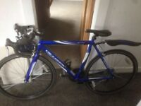 Road Bike with helmet in good condition collection only