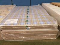 Chester standard double divan mattress and base set