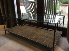 Grange glass topped coffee table