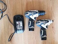 Makita LCT204W 10.8v Li-Ion Drill/Driver & Impact Driver Twin Pack - White (collection only)
