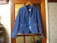Boden Pale Blue Cord Jacket BNWT size 8