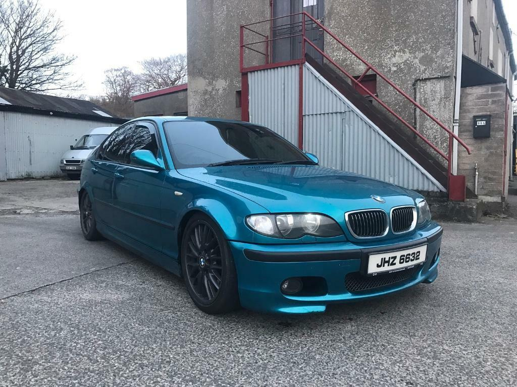 2003 Bmw 330d M Sport Individual Atlantis Blue Leather Interior Remapped Lowered Full