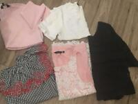 Summer tops bundle x 5 Topshop, River Island and Topshop Size 8 new