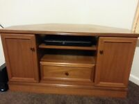 Corner Wooden TV Stand in excellent condition