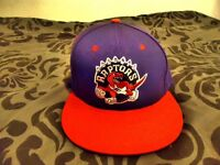 Purple/Red Toronto Raptors TISA Snapback Hat Cap: Basketball NBA. Unisex.