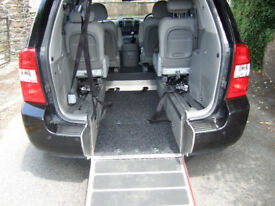 Wheelchair accessible Kia Sedona 11 reg.12 months mot.Full Kia service history,4 seats .2 keys.