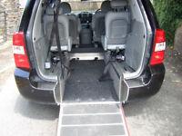 Wheelchair accessible Kia Sedona 11 reg.12 months mot.Full Kia service history,4 seats .2 keys.