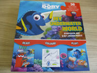 Finding Dory 2 IN 1 Jigsaw Puzzle and Book As New