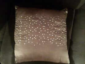 Silver and black sparkle cushions