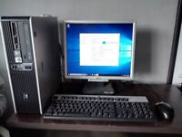 HP COMPAQ Dual Core Full PC Set-up inc WI-FI Monitor Keyboard and Mouse (Tower-Computer-Desktop)