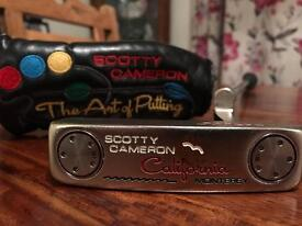 """Scotty Cameron California Monterey Putter 34"""" with superstroke grip"""