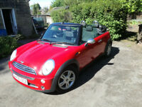 Mini One Convertible in Chili Red 1.6 Petrol 2005
