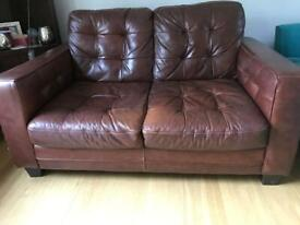 Brown 2 seater sofa - collection only