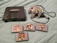 Nintendo 64 plus 4 games