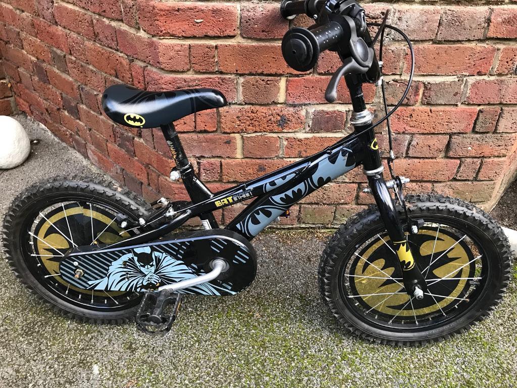 "Batman 16"" child's bike and helmet"
