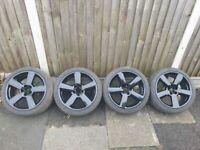 Audi S Line Alloys 18 inch 5x100 225 40 R18 VW Golf RS6
