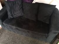 Navy blue/black 2 seater sofa bed