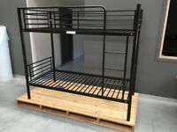 ☀️☀️EXCELLENT QUALITY☀️☀️ WHITE METAL BUNK BED HIGH QUALITY SINGLE 3FT STANDARD SINGLE SIZE SAME DAY