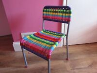 childrens colourful chair