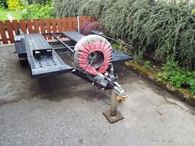 Car transporter trailer, fully EC Certified, with spare wheel & braking system.