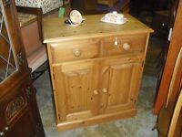 Great Solid Country Pine Sideboard Rustic Storage Cabinet