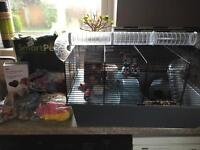 Small Pet/Hamster Cage with Accessories