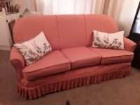 Fabulous 3 Seater Sofa with Plums Fitted Removable Covers