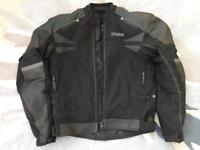Motorcycle jacket - Weiss part-leather