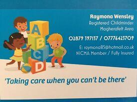 Registered childminder has availability