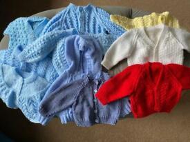 Newborn knitted cardigan bundle