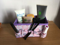 NEW Makeup Cosmetic Storage Bag Bright Organiser Foldable Stationary Container