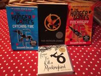 3 Hunger Games Titles, and 11 CDs of To Kill a Mockingbird