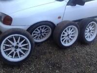 Mim style alloy wheels 4x100 vw BMW Vauxhall honda