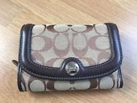 COACH leather & canvas purse